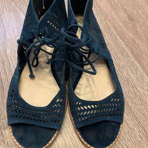 Vince Camuto Navy Zip Sandal - Size 6